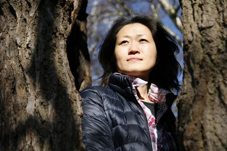 Portrait asian woman, looking off into distance   Stock Photo - 12523953