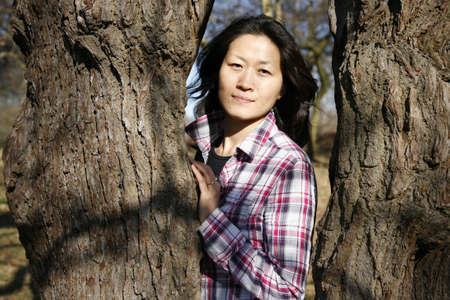 Portrait asian woman looking the camera photo
