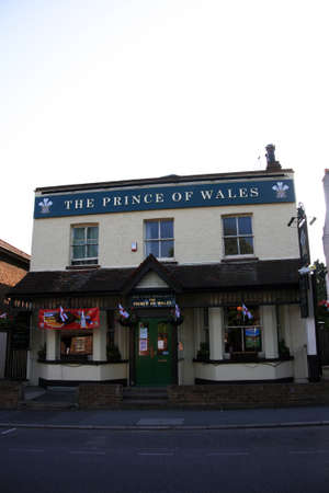 London, UK - June 04, 2010: Outside view of a public house, known as pub, for drinking and socializing, is the focal point of the community, Pub business, now about 53,500 pubs in the UK, has been declining every year.    Stock Photo - 12513224