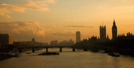 Westminster Bridge seen from Hungerford Bridge photo