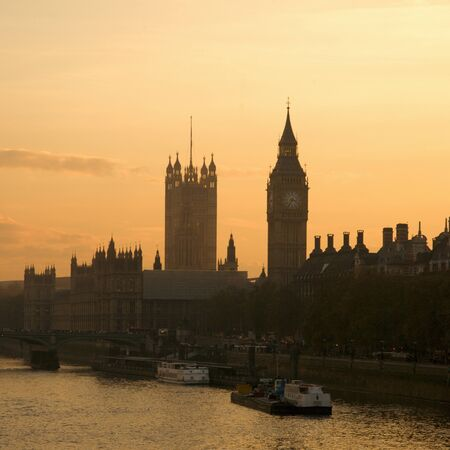 Westminster seen from Hungerford Bridge Stock Photo - 12790114