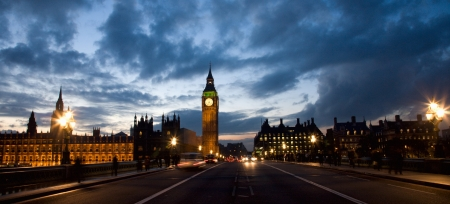 west europe: Westminster Nigth View seen from Westminster Bridge