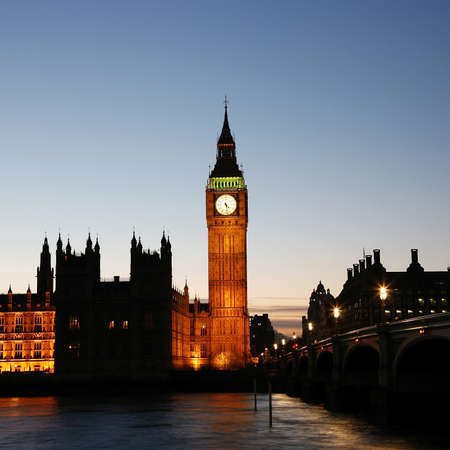 Big Ben and Palace of Westminster seen from South Bank Stock Photo - 12790107