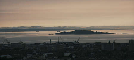 Edinburgh Cityscape seen from Calton Hill    photo