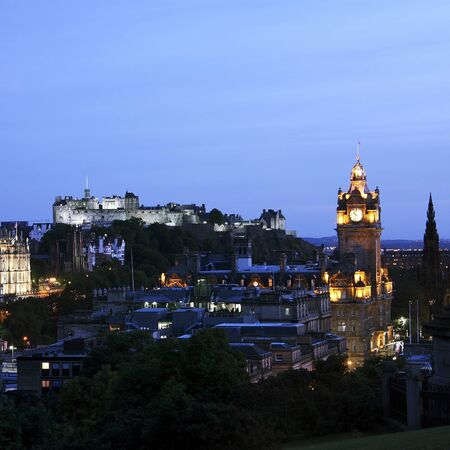 Edinburgh Cityscape seen from Calton Hill    photo