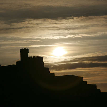 governor: Governor House in silhouette at Calton Hill, Edinburgh, UK