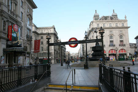 shaftesbury: London, UK - September 5, 2010: View of Piccadilly Circus, famous road junction, built in 1819, meeting place, tourist attraction, in West End, inks to Shaftesbury Avenue, Regent Street, Haymarket, Leicester Square and Glasshouse Street.  Editorial