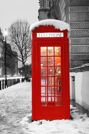 London Red Telephone Booth at dawn Stock Photo - 13355480