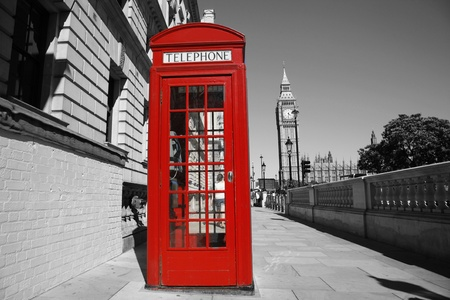 Red phone booth is one of the most famous of London icons Stock Photo - 13355495