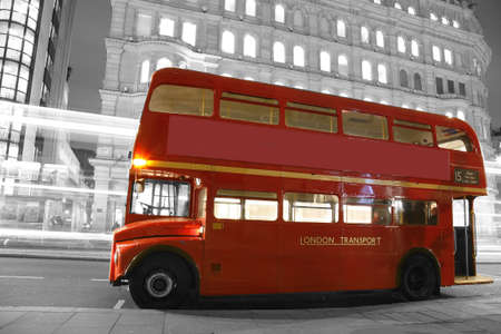 Route Master Bus in the street of London. Route Master Bus is the most iconic symbol of London as well as London's Black cabs.      Stock Photo - 13460558