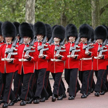 London, UK - June 16, 2012: Queen's Soldier at Queen's Birthday Parade. Queen's Birthday Parade take place to Celebrate Queen's Official Birthday in every June in London.    Stock Photo - 14149207