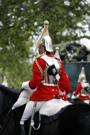 London, UK - June 16, 2012: Household Cavalry at Queen's Birthday Parade. Queen's Birthday Parade take place to Celebrate Queen's Official Birthday in every June in London.    Stock Photo - 14149232