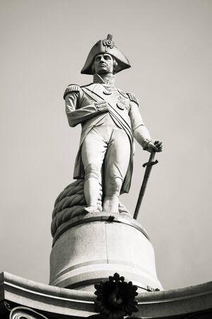 trafalgar: Nelson statue in Trafalgar Square