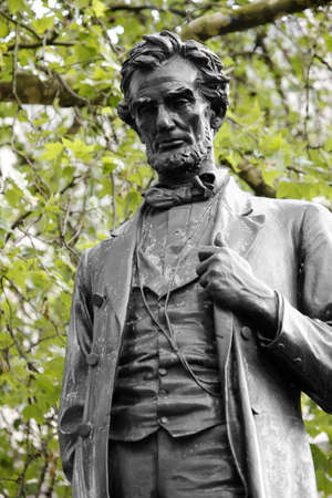 honest abe: Lincoln statue in Parliament Square Stock Photo