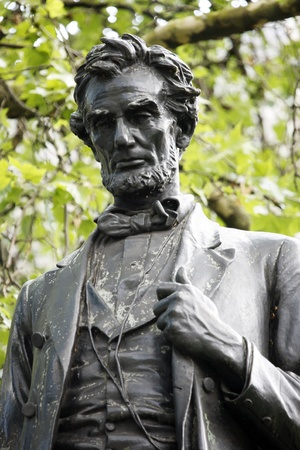 abe: Lincoln statue in Parliament Square Stock Photo