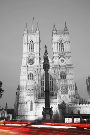 Westminster Abbey at Night seen from Pariament Square photo