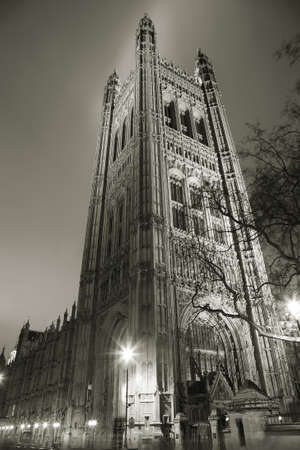 London Victoria Tower stands at the House of Lords end of the Palace of Westminster. Stock Photo - 14934396