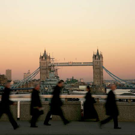 Tower Bridge in the evening glow  photo