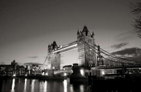 Thames River Night View with Tower Bridge photo