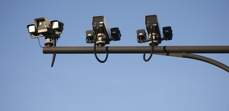 CCTV, security camera, watching every movement in modern society Stock Photo - 14934405