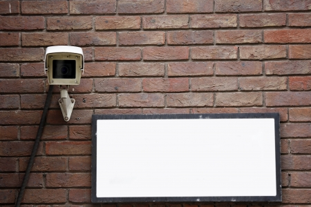 CCTV, security camera, watching every movement in modern society photo