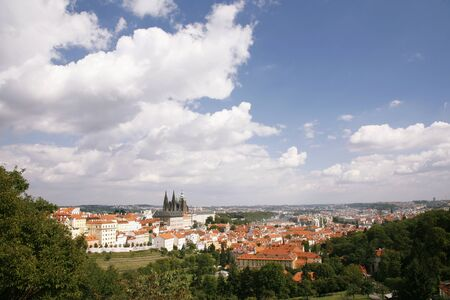 Prague Skyline seen from  Petrin Hill  photo