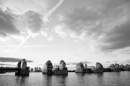 Thames Barrier, tidal protector, is the worlds second largest movable flood barrier  photo
