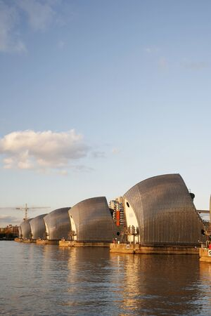Thames Barrier, tidal protector, is the world's second largest movable flood barrier  photo