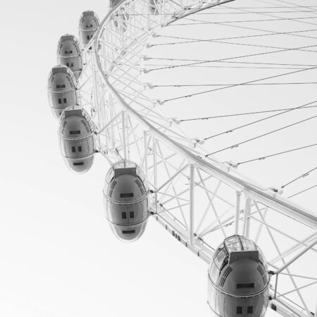 London, UK - November 2, 2012: View of The London Eye on November 2, 2012, London, England. A famous tourist attraction at a height of 135 metres (443 ft) and the biggest Ferris wheel in Europe.