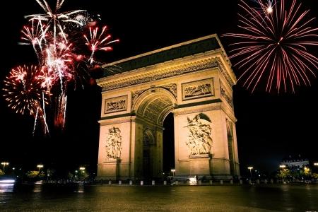 Arc de triomf is het een van de meest beroemde monumenten in Parijs, Frankrijk