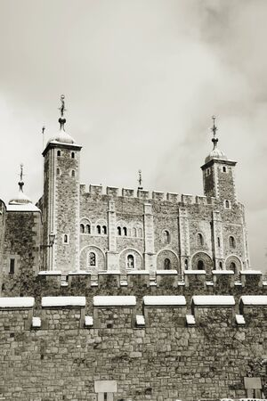 Tower of London, Borough of Tower Hamlets, on snowy day  photo