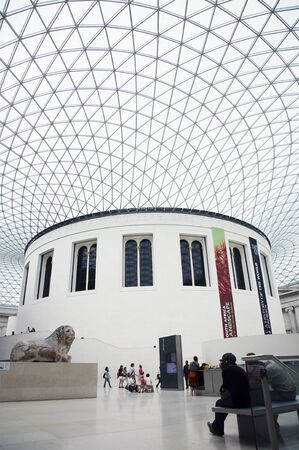 comprise: London, UK - August 2, 2010: Inside view of British Museum, one of the largest, oldest museum in the world. Museums Collections comprise 8 million items, dedicated to human history and culture, from all continents.