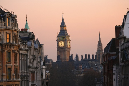 Big Ben, seen from Trafalgar Square, at Dawn  photo