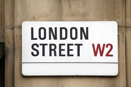 chelsea: London Street Sign, LONDON STREET, Borough of Kensington and Chelsea