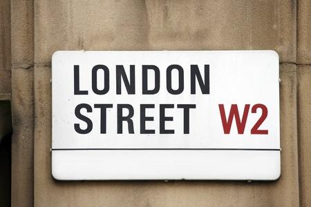 London Street Sign, London Street, Borough van Kensington en Chelsea