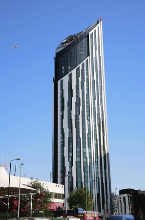 London , UK - June 26, 2011: Outside view of Strata, a skyscraper in Southwark, 148 metres height, 43 floors, completed in 2010.