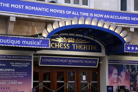 London , UK - January 18, 2011: Outside view of Duchess Theatre, West End theatre, located on Catherine Street, City of Westminster, since 1929, designed by Ewen Barr.