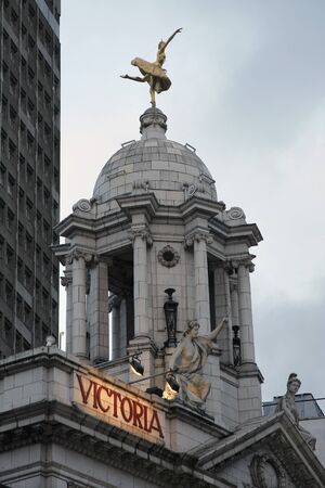 London , UK - February 27, 2011: Outside view of Victoria Palace Theatre, located on Victoria Street, City of Westminster, since 1911, designed by Frank Matcham.