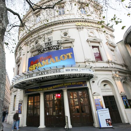 London , UK - December 11, 2012: Outside view of Playhouse Theatre, located on Northumberland Avenue, City of Westminster, since 1882, designed by F. H. Fowler & Hill.