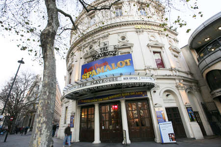westend: London , UK - December 11, 2012: Outside view of Playhouse Theatre, located on Northumberland Avenue, City of Westminster, since 1882, designed by F. H. Fowler & Hill.