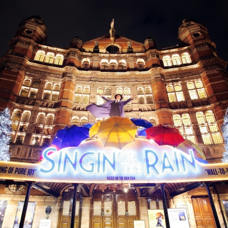 London , UK - December 10, 2012: Outside view of Palace Theatre, West End theatre, located on Cambridge Circus, City of Westminster, since 1891, designed by Thomas Edward Collcutt, at Night.   Stock Photo - 18979171