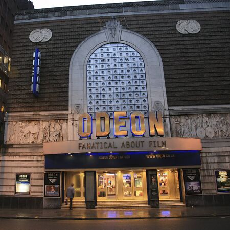 covent: London , UK - December 30, 2010: Outside view of Odeon, British chain of cinemas, one of the largest in Europe, founded 1928 by Oscar Deutsch, Covent Garden branch.   Editorial
