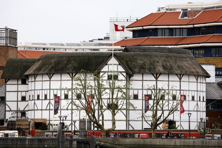 London , UK - June 14, 2012: Outside view of Shakespeare's GlobeTheatre, located on 21 New Globe Walk, Southwark London, since 1997, designed by Pentagram.   Stock Photo - 18979217