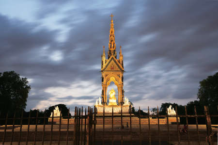 The Albert memorial in Hyde park of London