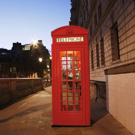 phone booth: Red Telephone Booth at night. Red phone booth is one of the most famous London icons.
