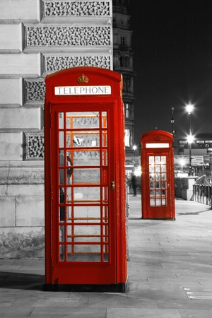 telephone booth: Red Telephone Booth at night. Red phone booth is one of the most famous London icons.