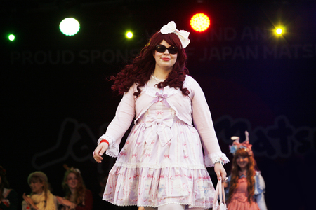 lolita: London, UK - October 5, 2013: Participants, Lolita Fashion Team by the Tea Party Club at 2013 London Japanese Matsuri (festival), various of activities to keep all ages happy at the Japan Matsuri Festival at Trafalgar Square.