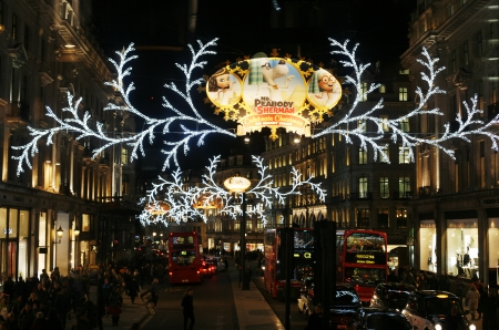 london uk november 21 2013 christmas lights display on regent street in