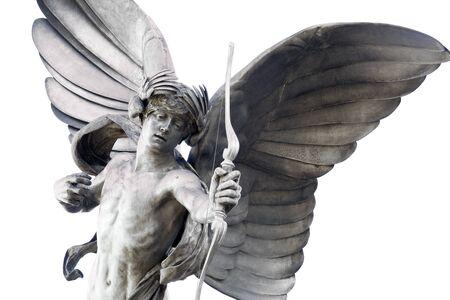 eros: Statua di Eros a Piccadilly Circus, Londra, Regno Unito