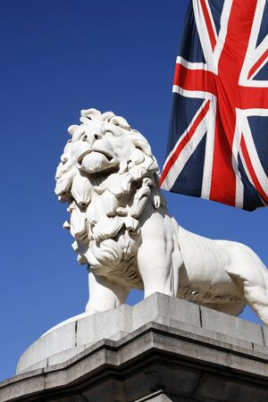 westminster bridge: Coade Stone Lion seen from Westminster Bridge